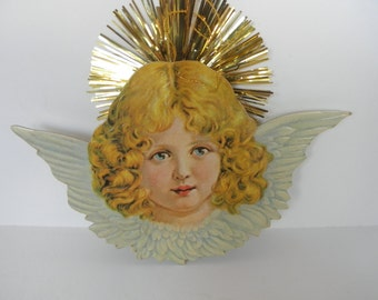 Vintage Reproduction Angel Ornament 1980