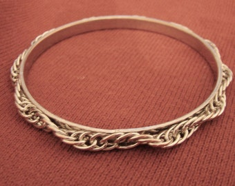 Womens Bracelet Vintage Costume Jewelry copper Silver Plated Fixed Thick Link  Bracelet Jewelry