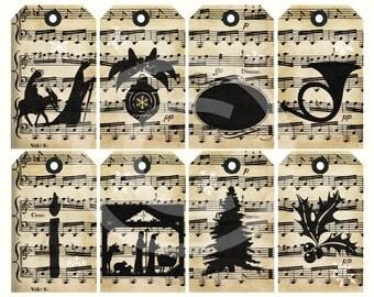 DIY Printable Christmas Religious Gift Tags. Chalkboard