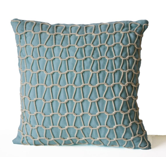 Light Blue Throw Pillow Covers : Sea Pillow Blue Pillow Cover Nautical Pillows Light Blue