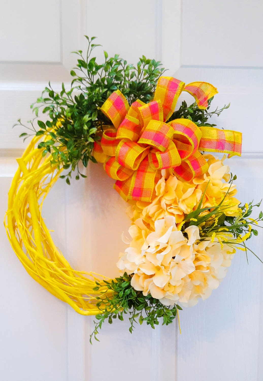Spring Wreath Summer Wreath Grapevine Wreath