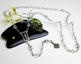 Catholic Sterling Rosary, Vintage '30s Maltese Cross, Crystal & Silver Filigree Capped Beads, An Unusual Catholic Rosary, Italy.