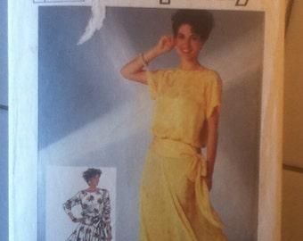 Simplicity Blouson Dress Pattern 7555  pattern is cut to size 6