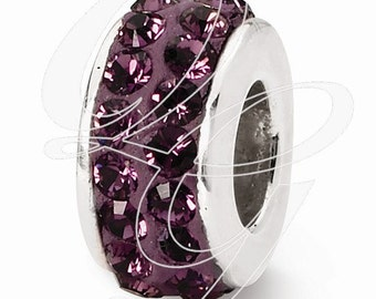 Sterling Silver Reflections February Double Row Swarovski Elements Bead (rb - 1265)