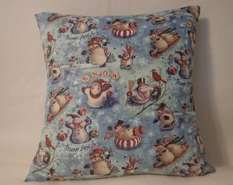 Pillow Cover, Decorative Christmas Pillow Cover, 18 x 18 Pillow Cover, Holiday Pillow Cover,Winter Pillow Cover,Christmas Decor,Winter decor