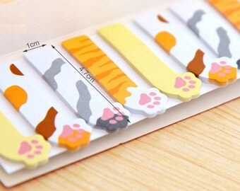 Stick and Memo  - 120 sheets - Lovely Cat Foot Print
