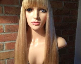 Stylish human hair bespoke wig 13years-Adult with bangs.