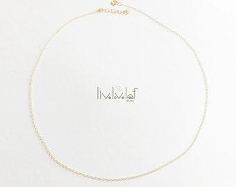 Plain Jane Gold Choker Necklace, gold filled Chain Necklace choker, minimalist style jewelry, delicate modern layering jewelry minimal trend