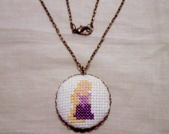 Rapunzel Princess Necklace, Disney Fan Gift