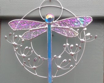 Dragonfly and seedhead hoop.