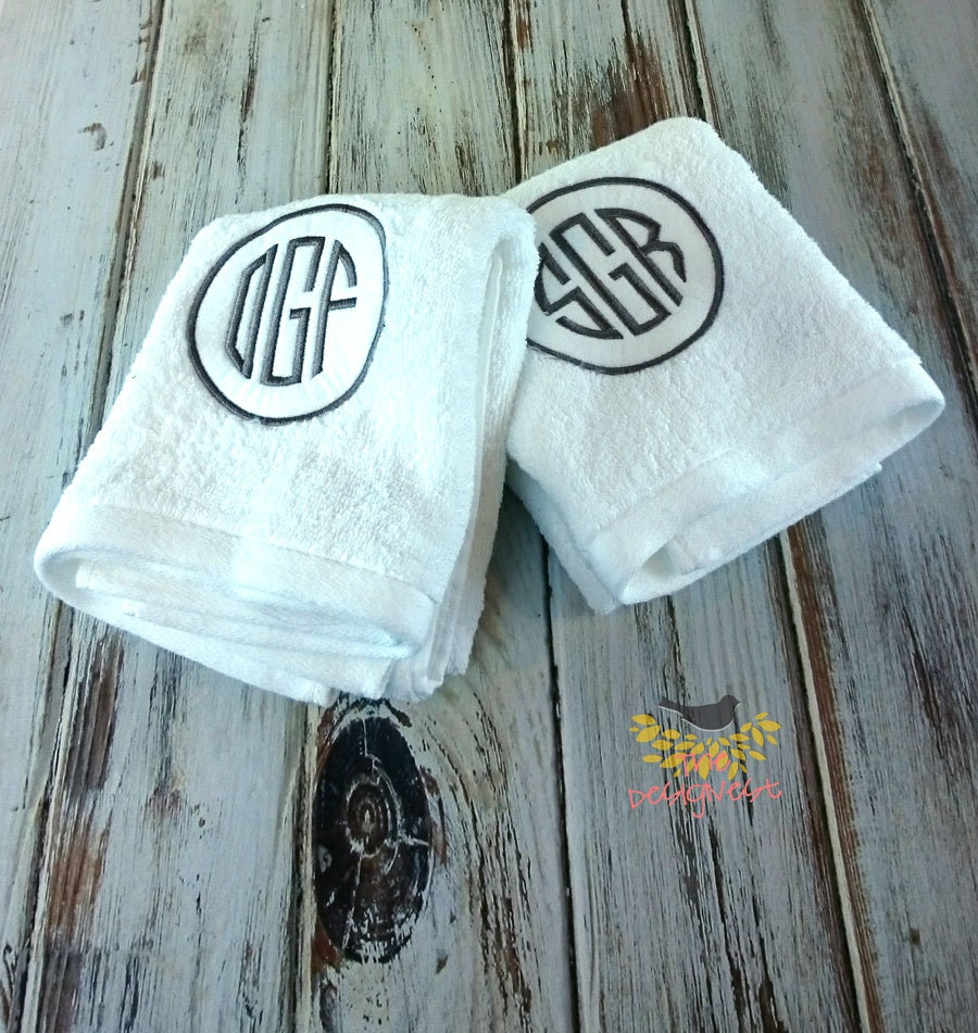 Monogrammed Towels Monogrammed Hand Towels By TheDesigNest