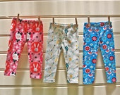 Children's Leggings sewing pattern and tutorial sizes 1-12 yrs girl & boy leggings sewing pattern, kids leggings sewing pattern