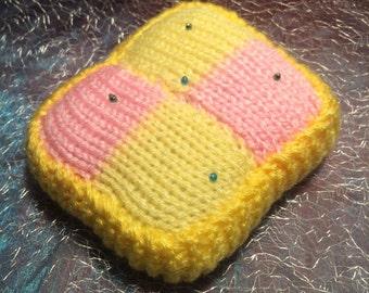 Knitted Cake Pin Cushion