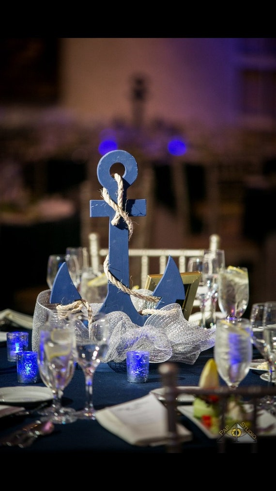 nautical table decorations for weddings custom anchor wedding centerpiece nautical by 6102