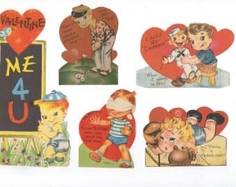 Boys seeking valentines in these 1940's vintage gems