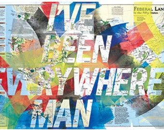I Ve Been Everywhere Man Us Map Version 2