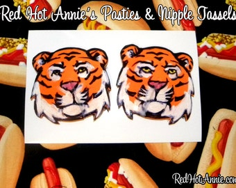 Tiger Jungle Cat Hand-Painted Burlesque Pasties (Various)