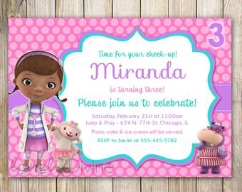 Doc McStuffins Invitation, Doc McStuffins Invite, 2nd Birthday Invitation, 3rd Birthday, 4th birthday, 5th birthday, PRINTABLE