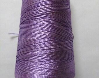 HELIOTROPE (VIOLET) - 60 gm - Viscose Rayon Art Silk Thread Yarn - Embroidery Crochet Knitting Lace Jewelry Trim Artwork