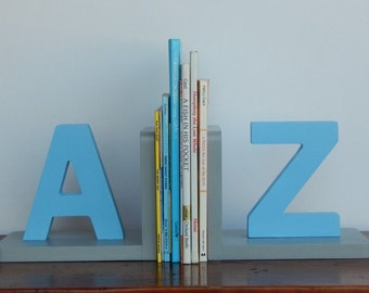 Handmade Letter Bookends - Children, Nursery Bookends