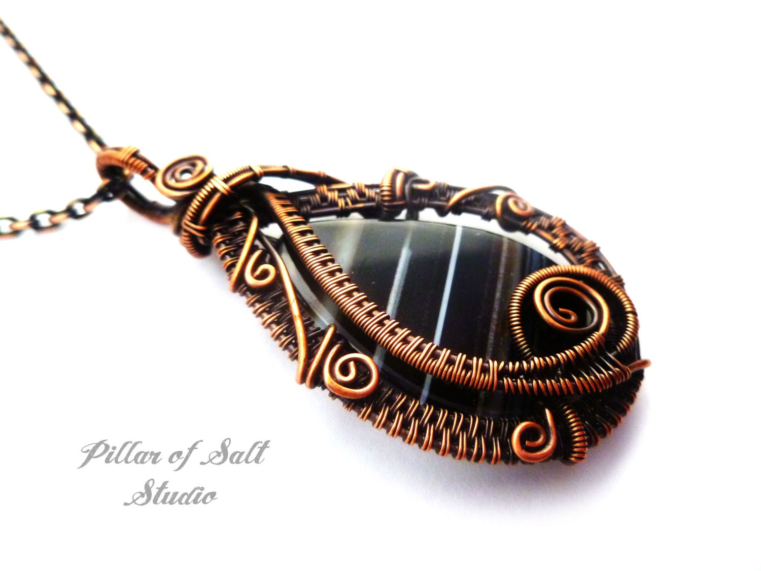 wire wrapped pendant copper jewelry wire wrapped jewelry