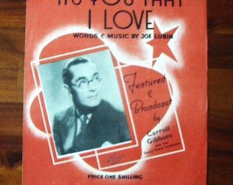 It's You That I Love words and music by Joe Lubin