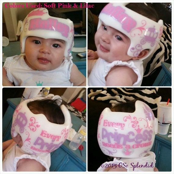 Personalized Cranial Band Decals Every Princess Needs - Baby helmet decalspersonalized cranial band fairy decals just tinkering