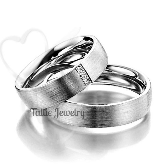 platinum his and hers matching rings setcouple wedding