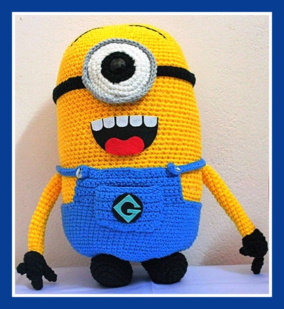 Crochet Patterns Minions Despicable Me : Minion Despicable Me Crochet pattern only. sent as PDF by ...