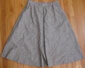 Hipster Brown Skirt Size 30 Wool Tweed A-Line Pendleton Vintage