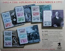 Columbian Exposition Souvenir Sheets -Stamps -USPS -Philately -Postage stamps -Christopher Columbus -Collectible - Stamp collecting
