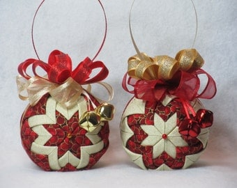 how to make easy no sew fabric christmas ornaments