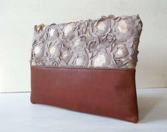 Clutch bag, Leather clutch bag, Clutch purse, Metallic clutch, Evening bag,  Women