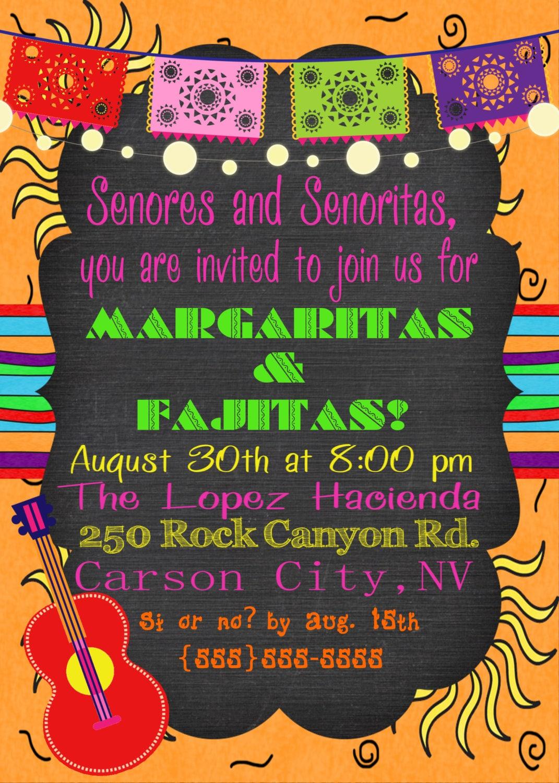 Printable invitacion, Mexican FIESTA Party, Southwest invitation ...