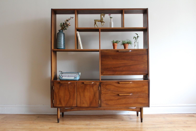 Mid Century Modern Dining Cabinet / Media Shelf / Room Divider