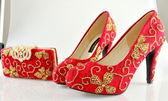 custom swarovski indian bridal wedding medium heel