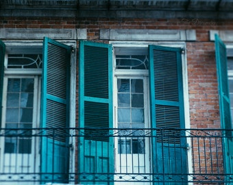 New Orleans photography, new orleans prints, large wall art, french quarter art, nola art, historic architecture, teal decor, travel