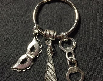 Inspired fifty shades of grey keychain