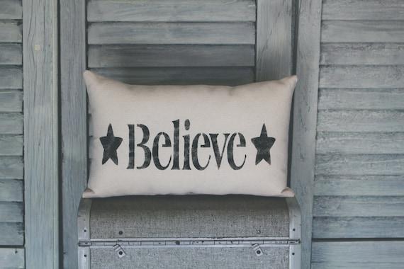 believe pillow decor pillow decorative pillow home decor