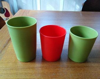 Vintage 70s Tupperware Cups Set of Three