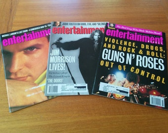Three Entertainment Weekly Magazines Vintage 1990s