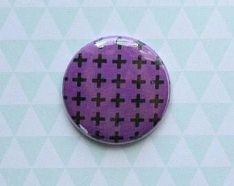"""Badge 1 """"darker background violet"""