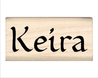Name Rubber Stamp for Kids  - Keira