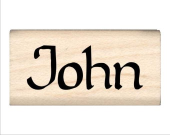 Name Rubber Stamp for Kids  - John