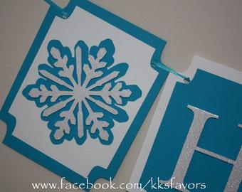 Snowflake Birthday Banner