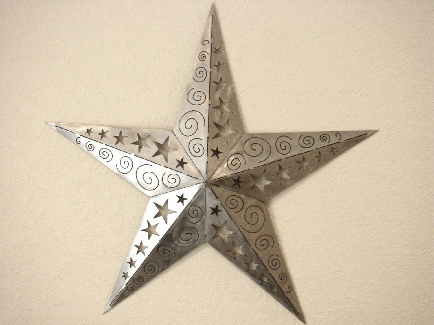 3d Ornamental Texas Star Metal Wall Art