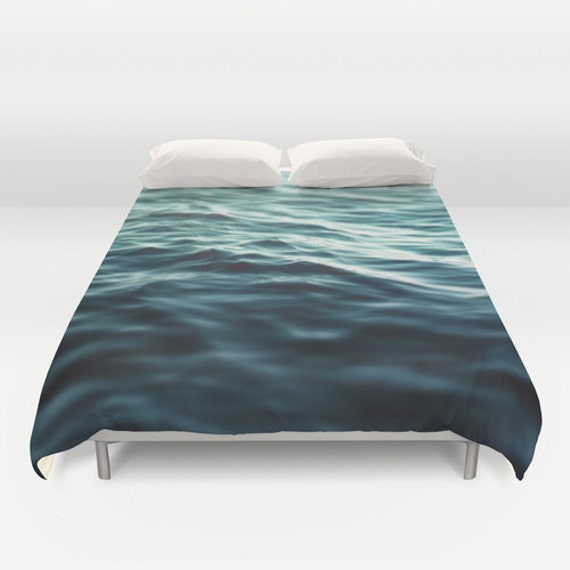 dark waters 3 duvet cover turquoise blue green by naturecity. Black Bedroom Furniture Sets. Home Design Ideas