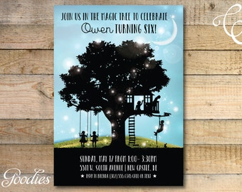 Magic Treehouse Birthday Party Invitation