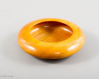 Mid Century Modern Wood Bowl Ring Dish Jewelry Dish Vintage