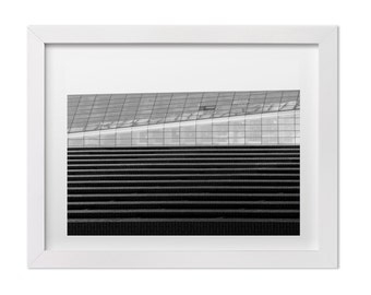 New York Abstract Architecture Print, Black and White Minimalist Photography, NYC Print, Minimalist Art, New York Wall Art, Gift For Him